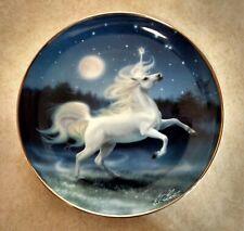 "The Diamond Unicorn By Kirk Heinert Franklin Mint Limited Edition 8 1/4"" Plate"
