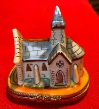Vintage Limoges Trinket Box church or cathedral