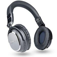 NoiseHush i9BT Active Noise Cancelling Bluetooth 4.1 Over Ear Headphones Grey