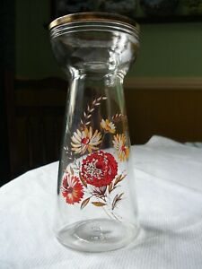 Hyacinth vintage glass bulb vase 1950s