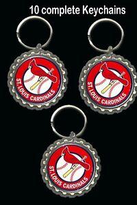 St. Louis Cardinals keychain key rings favors 10 loot bag birthday baseball