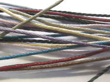 1mm Wax Cord - Mixed Colours - Waxed Cotton Cord - Pack of 15 x 1 metre