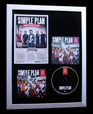 SIMPLE PLAN+SIGNED+FRAMED+TAKING ONE FOR TEAM=100% AUTHENTIC+EXPRESS GLOBAL SHIP
