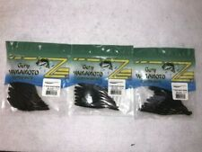 Yamamoto Shad Shape Worm Grn Pumpkin/Black qty 3packs 10 pcs per pack