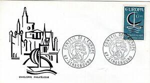 1490+ FDC  ENVELOPPE 1er JOUR EUROPA  1966    STRASBOURG