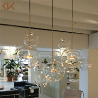 Modern Glass Globe Mickey Bubble Pendant Lamp Chandelier Ceiling Light Fixtures