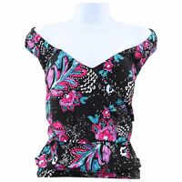 Anne Cole Plus Size Thats a Wrap Off the Shoulder Tankini Top Swimsuit,Multi 20W