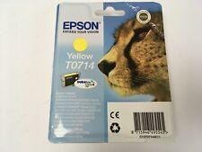 Genuine Original Epson T0714 Yellow Ink Cartridge New Sealed
