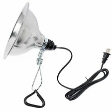 Simple Deluxe Tight Grip Clamp Lamp Light with 8.5 Inch Aluminum Reflector up to