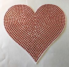 "Decal ""Rhinestone Heart""  Red  6x6"