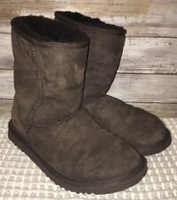 Uggs Womens Brown Sherpa Lined Boots Size 6W