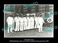 OLD 8x6 HISTORIC PHOTO OF AUSTRALIAN NAVY HMAS BUNBURY PATROL BOAT CREW 1984