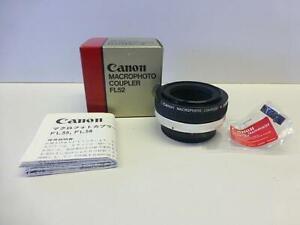 Mint Canon Macrophoto Coupler FL 52 mm Reverse Mount Adapter w Macro Hood in Box