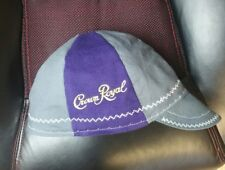 Wendys Welding Hat Made From Crown Royal Bags And Grey Fabric ! FITTED!!