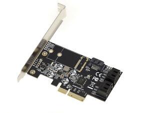 Scheda Controller Pcie 3.0 4X Con 5 Porte SATA 6G. Chipset JMB585