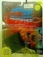 "Star Trek"" TNG Borg Ship Playset, Innerspace Micro Machines, Playmates 1994"