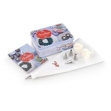Christmas Cake Making Set - Includes Piping Bag & Icing Nozzles in Gift Tin