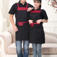 Front pocket Apron Men Women Home Kitchen Restaurant Chef Cooking Bib Adjustable