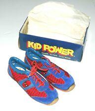 Amazing Spider-Man Vintage Pair Rare 1979 Sneakers by Kid Power w/Original Box