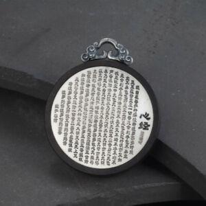 A22 Pendant Buddhist Herz-Sutra Sandalwood Fine Silver 999