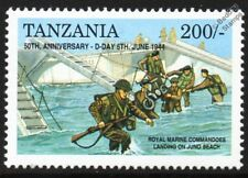 D-Day Royal Marine Commandos at Juno & LCI(S) Landing Craft Infantry WWII Stamp