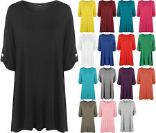 Women's No Pattern Plus Size Stretch Short Sleeve Sleeve Tops & Shirts