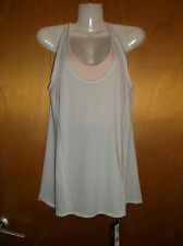 M&S Sleeveless Racerback Layered Crop Top & Sports Fitness Top 10 Pink Mix BNWT