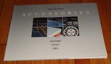 Original 1990 Honda Accessories Sales Brochure CRX Civic Accord