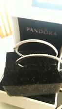 Guenine new Pandora Sparkling  Oval Hoop  Earrings