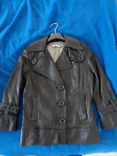 NWOT MIKE AND CHRIS BLACK LEATHER JACKET  SIZE  XS