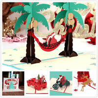 3D Pop Up Card Christmas Birthday Wedding Valentine Greeting Cards Invitations