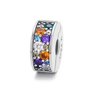 Colourful Clip Charm Silver Charm Pandora Bracelets