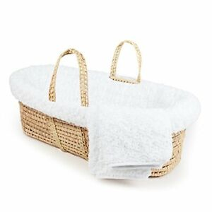 Tadpoles Twisted Fur Moses Basket and Bedding Set White