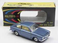 Politoys M 517 Fiat 850 coupe' azzurro met. in scatola w/ box 1/43