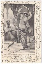 Haremsscenen nach Gemälden von F. Student - CAP Undivided Back - Posted 1908