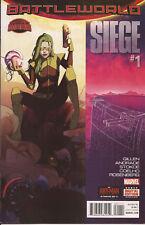 Siege #1 Marvel Secret Wars Battleworld Shield Kang zombies Dr Doom Thing VF