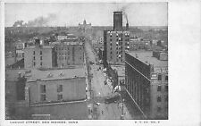 Des Moines Iowa~Locust Street Bird's Eye View~Mystic Toilers~Iowa Mutual~1905