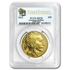 2012 1 oz Gold Buffalo MS-70 PCGS (First Strike) - SKU #66017