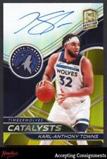 2019-20 Panini Spectra Catalysts Signatures Gold #8 Karl-Anthony Towns AUTO 1/10