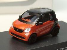 Busch Smart Fortwo Coupe, lava orange,  PC 274 - 1:87