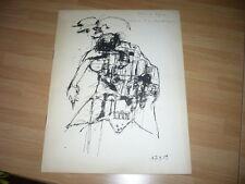 BERNARD DUFOUR CATALOGUE PEINTURES DESSINS EXPOSITION 1960