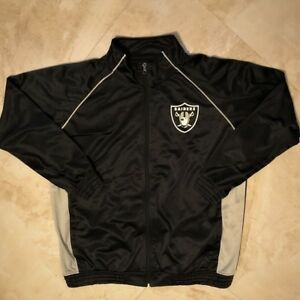 Oakland Raiders Ladies Full Zip Fashion Jacket 1XL Rhinestone Logos Womens NFL