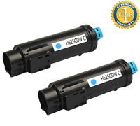 2 PK Cyan Color Toner for Dell H625cdw H825cdw S2825cdn H625 H825 S2825 593-BBOX