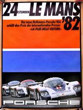 """orginal Porsche Plakat Poster Affiche """" Le Mans """" 1982 Rothmans Porsche 956"""