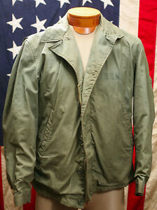 VINTAGE WWII US NAVY N4 DECK JACKET (M41 STYLE) NAVAL AVIATOR AIRCRAFT CARRIER