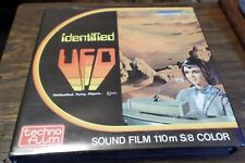 IDENTIFIED UFO SUPER 8mm Cine Film  SCI-FI COLOUR SOUND for projector cult fan
