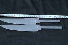 30.5 CM INDIAN VINTAGE SET OF 2 CUSTOM HAND FORGE  DAMASCUS BLANK BOWIE  BLADE