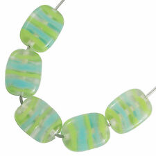 Trez Handmade Glass Lampwork Beads (Set of 10; Small Hole 1.5mm) Oblong 220