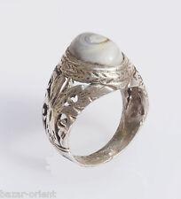 antik orient silberring augen achat  Afghanistan persien silver agate ring Nr:36