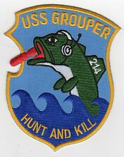 USS Grouper SS 214 (SSK 214) - Fish Spitting Torpedo BC Patch Cat No C5291